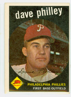 1959 Topps Baseball 92 Dave Philley Philadelphia Phillies Excellent