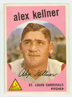 1959 Topps Baseball 101 Alex Kellner St. Louis Cardinals Excellent