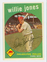 1959 Topps Baseball 208 Willie Jones Philadelphia Phillies Excellent