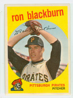 1959 Topps Baseball 401 Ron Blackburn Pittsburgh Pirates Excellent