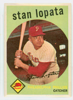 1959 Topps Baseball 412 Stan Lopata Philadelphia Phillies Excellent