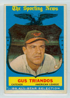 1959 Topps Baseball 568 Gus Triandos AS High Number Baltimore Orioles Excellent