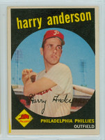 1959 Topps Baseball 85 Harry Anderson Philadelphia Phillies Excellent to Excellent Plus