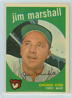 1959 Topps Baseball 153 Jim Marshall Chicago Cubs Excellent to Excellent Plus