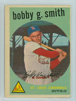 1959 Topps Baseball 162 Bobby Gene Smith St. Louis Cardinals Excellent to Excellent Plus