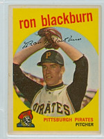 1959 Topps Baseball 401 Ron Blackburn Pittsburgh Pirates Excellent to Excellent Plus