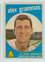 1959 Topps Baseball 6 Alex Grammas St. Louis Cardinals Excellent to Mint