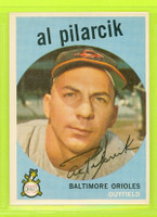 1959 Topps Baseball 7 Al Pilarcik Baltimore Orioles Excellent to Mint