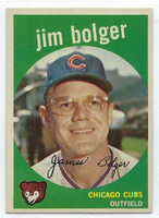 1959 Topps Baseball 29 Jim Bolger Chicago Cubs Excellent to Mint