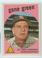 1959 Topps Baseball 37 Gene Green St. Louis Cardinals Excellent to Mint