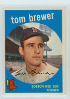 1959 Topps Baseball 55 Tom Brewer Boston Red Sox Excellent to Mint