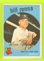 1959 Topps Baseball 72 Bill Renna Boston Red Sox Excellent to Mint