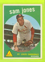 1959 Topps Baseball 75 Sam Jones St. Louis Cardinals Excellent to Mint