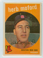 1959 Topps Baseball 91 Herb Moford Boston Red Sox Excellent to Mint