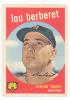 1959 Topps Baseball 96 Lou Berberet Detroit Tigers Excellent to Mint