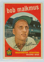 1959 Topps Baseball 151 Bob Malkmus Washington Senators Excellent to Mint