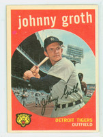 1959 Topps Baseball 164 Johnny Groth Detroit Tigers Excellent to Mint
