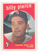 1959 Topps Baseball 410 Billy Pierce Chicago White Sox Excellent to Mint