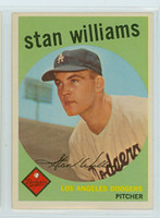 1959 Topps Baseball 53 Stan Williams ROOKIE Los Angeles Dodgers Near-Mint