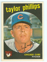 1959 Topps Baseball 113 Taylor Phillips Chicago Cubs Near-Mint