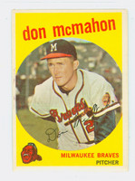 1959 Topps Baseball 3 Don McMahon Milwaukee Braves Very Good to Excellent