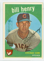 1959 Topps Baseball 46 Bill Henry Chicago Cubs Very Good to Excellent