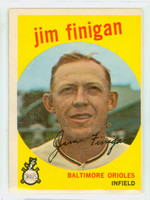1959 Topps Baseball 47 Jim Finigan Baltimore Orioles Very Good to Excellent