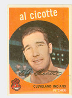 1959 Topps Baseball 57 Al Cicotte Cleveland Indians Very Good