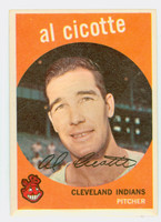 1959 Topps Baseball 57 Al Cicotte Cleveland Indians Very Good to Excellent