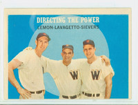 1959 Topps Baseball 74 Directing The Power Washington Senators Very Good to Excellent