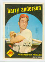 1959 Topps Baseball 85 Harry Anderson Philadelphia Phillies Very Good to Excellent