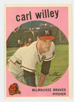 1959 Topps Baseball 95 Carl Willey Milwaukee Braves Very Good to Excellent