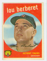 1959 Topps Baseball 96 Lou Berberet Detroit Tigers Very Good to Excellent