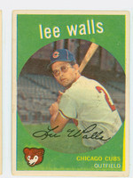 1959 Topps Baseball 105 Lee Walls Chicago Cubs Very Good