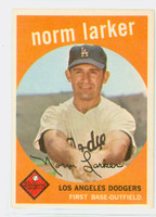 1959 Topps Baseball 107 Norm Larker Los Angeles Dodgers Very Good to Excellent