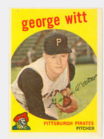 1959 Topps Baseball 110 George Witt Pittsburgh Pirates Very Good to Excellent