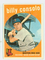 1959 Topps Baseball 112 Billy Consolo Boston Red Sox Very Good