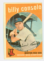 1959 Topps Baseball 112 Billy Consolo Boston Red Sox Very Good to Excellent