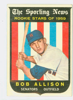 1959 Topps Baseball 116 Bob Allison ROOKIE Washington Senators Very Good