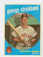 1959 Topps Baseball 207 George Strickland Cleveland Indians Very Good to Excellent