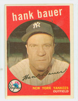 1959 Topps Baseball 240 Hank Bauer New York Yankees Very Good to Excellent