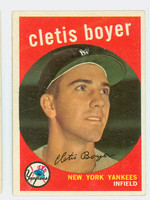 1959 Topps Baseball 251 Clete Boyer New York Yankees Very Good