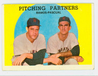 1959 Topps Baseball 291 Pitching Partners Washington Senators Very Good to Excellent