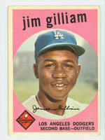 1959 Topps Baseball 306 Jim Gilliam Los Angeles Dodgers Very Good