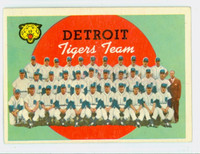 1959 Topps Baseball 329 Tigers Team Very Good to Excellent