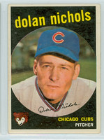 1959 Topps Baseball 362 Dolan Nichols No Option  Chicago Cubs Very Good