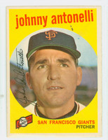 1959 Topps Baseball 377 Johnny Antonelli San Francisco Giants Very Good to Excellent