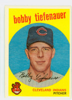 1959 Topps Baseball 501 Bobby Tiefenauer Cleveland Indians Very Good to Excellent