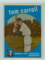 1959 Topps Baseball 513 Tom Carroll High Number Kansas City Athletics Very Good