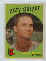 1959 Topps Baseball 521 Gary Geiger High Number Boston Red Sox Very Good